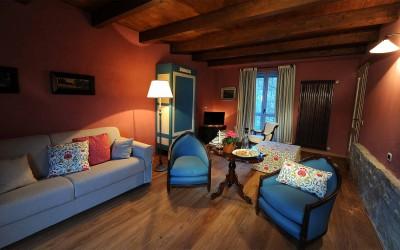 L'accogliente salotto