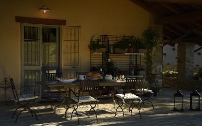 La colazione nel patio